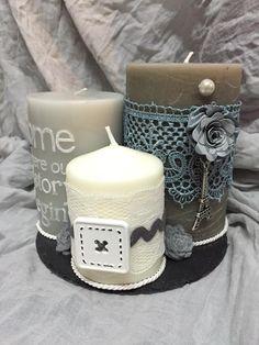 composizione candele grigio