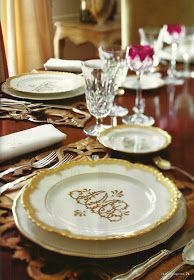 Monogrammed dishes