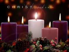 The Advent Wreath and Advent Candles - Christmas 2009