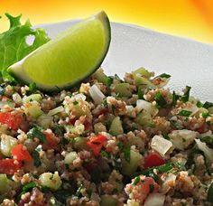 El tabule, conocida en idioma castellano como ensalada libanesa , es una ensalada típica de la Bekaa.