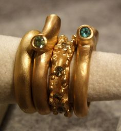 Yellow gold and tourmalines!  Andrea Gutierrez Jewelry Los Angeles on FB