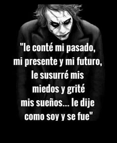 Hard Quotes, Life Quotes, Good Wife Quotes, Joker Frases, Best Joker Quotes, Feelings Words, Joker And Harley, Simple Words, Spanish Quotes