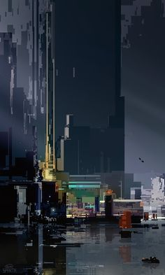 Originally Posted by 8 load up a nice bright wallpaper and it usually lasts an hour. Pixel Art, Arte Cyberpunk, Illustration Art, Illustrations, Futuristic City, Film D'animation, Glitch Art, Matte Painting, Science Fiction Art
