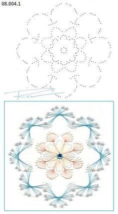 08.004.1 borduren op papier  08.004.1 embroidery on paper  08.004.1 broderie sur…