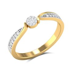 Bryant Garden Diamond Studded Gold Ring is Endless Gold Rings Jewelry, Diamond Jewelry, Beautiful Gold Rings, Gold Ring Designs, Unique Diamond Rings, Gold Wedding Rings, Fashion Rings, Jewels, Bridal
