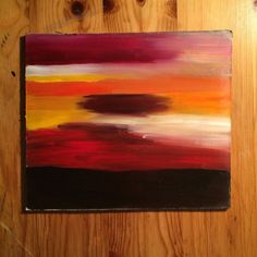 Picture oil painting red sunset, nature, sky, clouds, handmade, fine art #Impressionism #OilPaintingRed
