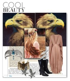 """""""Ravenclaw Beauty"""" by julyralewis ❤ liked on Polyvore featuring Valentino, Steve Madden, Tressa and Prada"""
