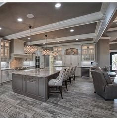 When it comes to remodeling your house, there is no other area of the home that is usually more fun to remodel than the garage Kitchen On A Budget, Home Decor Kitchen, Luxury Kitchens, Home Kitchens, Dream Kitchens, Dream Home Design, House Design, Home Interior, Interior Design