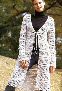 Pattern only - a crochet spring/summer/fall long cardigan