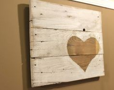 "Reclaimed Wood Wall Artwork - ""Heart"""