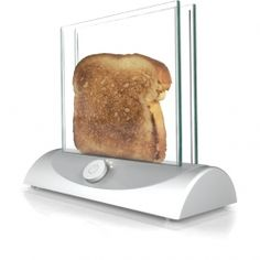 The Transparent Toaster uses panes of heating glass technology allowing you to clearly see how toasty your bread is becoming.