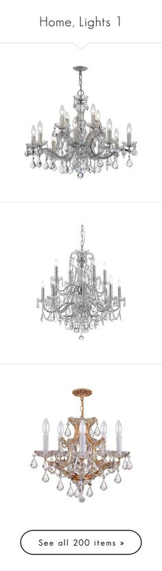 """""""Home, Lights 1"""" by sheri-gifford-pauline ❤ liked on Polyvore featuring home, lighting, ceiling lights, chandeliers, indoor lighting, 12 arm chandelier, 12 light, two tier chandelier, chain lamp and chain lighting"""
