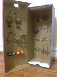 DIY earring holder Shes crafty Pinterest Diy earring holder