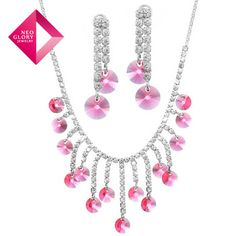 Neoglory MADE WITH SWAROVSKI ELEMENTS Crystal Rhinestone Jewelry Sets Necklace & Earrings Wholesale Wedding Gift