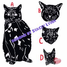 Cat decal designs