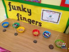 14 simple yet effective activities designed to improve & strengthen fine motor/dexterity skills. Perfect for any infant classroom's Funky Fingers Station! Fine Motor Activities For Kids, Eyfs Activities, Motor Skills Activities, Preschool Learning Activities, Fine Motor Skills, Preschool Activities, Teaching Ideas, All About Me Preschool, All About Me Eyfs