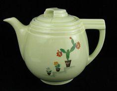 Vintage Hall Pottery China Dripolator Cactus