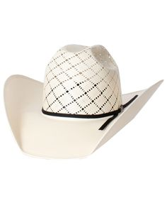99680a3974ccb American Hat Company Men s Patchwork Cross Straw Hat - www.fortwestern.com