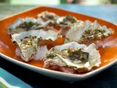 Grilled Oysters with Jalapeno-Herb Mignonette Recipe | Bobby Flay | Food Network