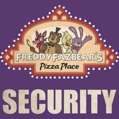 Freddy Fazbear's Security Logo is a T Shirt designed by Kaiserin to illustrate your life and is available at Design By Humans #freddy #fnaf #fnaf2 #fivenightsatfreddys #foxy #chica #bonnie #securityguy #mangle #pizza #logo #goldenfreddy #shadowbonnie #toybonnie #toychica #endoskeleton #toychica #puppet