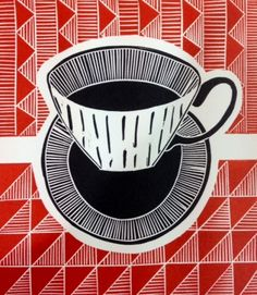 Work by Jan Brewerton titled 'Midwinter Coffee'