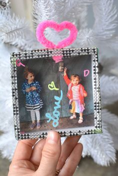 Family Photo Shadow Box Ornaments