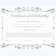 scholarship certificate template scholarship certificate templates