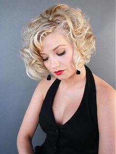A medium blonde straight wavy hairstyle by Claibornes