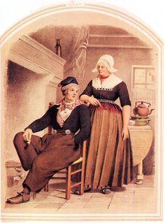 FolkCostume&Embroidery: Costume of Volendam, North Holland, The Netherlands