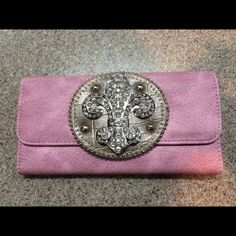 Spotted while shopping on Poshmark: Pink bedazzled wallet! #poshmark #fashion #shopping #style #Handbags