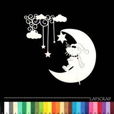 lot découpes scrapbooking scrap bébé naissance souris animal étoile lune nuage découpe papier embellissement die