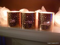 Live Love Laugh Set of Copper Candle by coppercreationsbyme, £32.00