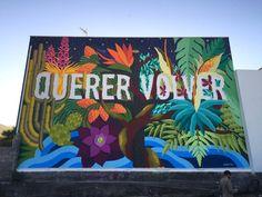"Brand new wrok from BoaMistura - ""Querer volver (Longing to go back)"" - at Los Llanos de Ariadne - La Palma, Canary Islands - Apr 2016"