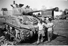 The Sherman Firefly was a World War II British variant of the American Sherman tank, fitted with the powerful British 17-pounder anti-tank gun as its main weapon. Originally conceived as a stopgap until future British tank designs came into service, the Sherman Firefly became the most common vehicle with the 17-pound main gun.