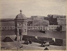 Isola Battery Malta circa 1870s by Francis Frith