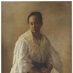 Historical Art, Historical Clothing, Arte Filipino, Southeast Asian Arts, Philippine Art, Filipiniana, Maria Clara, Academia, Container Gardening