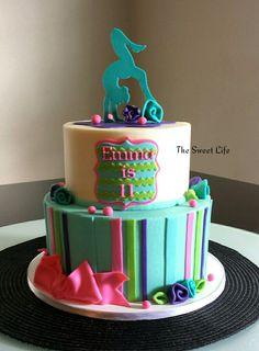 Gymnastics cake inspired by cakesbyashley