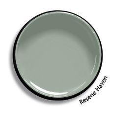 Resene Haven Bungalow Exterior, Exterior House Colors, Interior Paint Colors, Paint Colours, Green House Color, Resene Colours, New Zealand Houses, Pallet Painting, Online Coloring