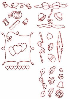red work embroidery designs for large quilt blocks   Juhu Rathayatra Kirtan Truck