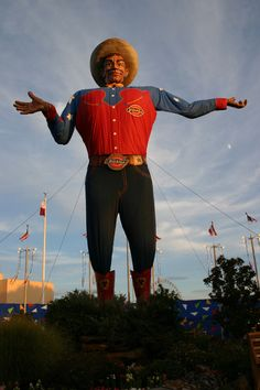 Big Tex at the state fairgrounds.  He talks!
