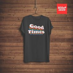 d9f4901da Good Times Retro Vintage 70s - 80s style Rainbow graphic Short-Sleeve  Unisex T-Shirt