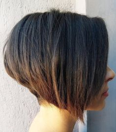 Stacked Bob with Bleached Ends