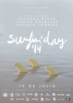Poster Surfin´Day 2014  |  #poster #lettering #logo #surf #beach #Valencia #photo