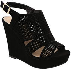 a0b8a23f1a53 MVE Shoes Womens Platform Cut Out Buckle Open Toe WedgesSandals
