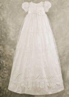 Preslee Silk Christening Gown