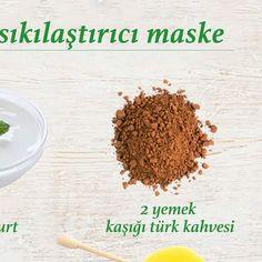 Yüz sıkılaştırıcı maske tarifi; 2 yemek kaşığı türk kahvesi, bal ve yoğurdu karıştırarak cildinize sürün, yarım saat bekletin ve ılık suyla yıkayın. ... - f. özbağ - Google+