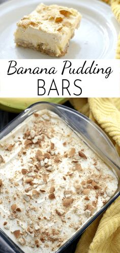 Pudding, bananas and wafer cookies create delicious layers of creamy goodness in., Desserts, Pudding, bananas and wafer cookies create delicious layers of creamy goodness in these simple Banana Pudding Bars. Dessert Oreo, Banana Dessert Recipes, Dessert Bars, Layered Pudding Desserts, Easy Banana Pudding, Banana Pudding Recipes, Banana Pudding Cookies, Köstliche Desserts, Delicious Desserts