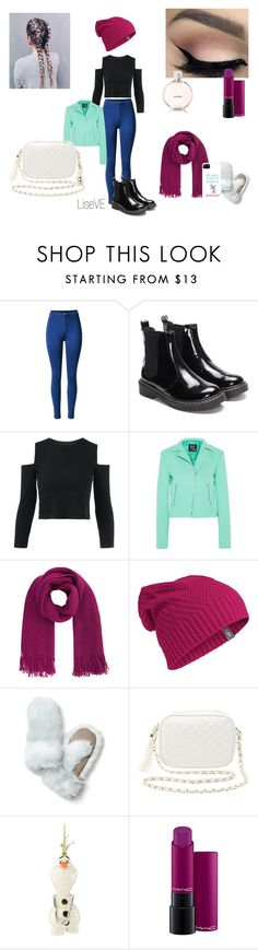 """""""Anna disneybound winter"""" by live1997 on Polyvore featuring mode, McQ by Alexander McQueen, Accessorize, Icebreaker, Banana Republic, Charlotte Russe, Lenox, Disney, MAC Cosmetics en Chanel"""