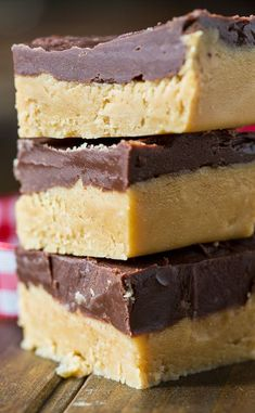 Buckeye Fudge with a layer of peanut butter topped with chocolate. All the taste of buckeye balls, but much easier to make!