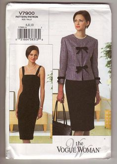The Vogue Woman 7900    Description: misses fitted, lined, partially interfaced jacket and close-fitting, unlined, straight dress    Condition